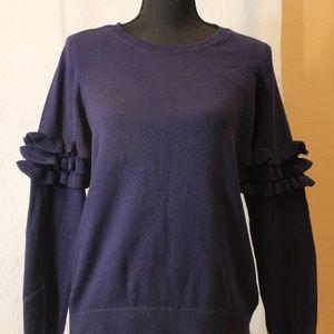 NWT Michael Kors Ruffle Sleeve Sweater